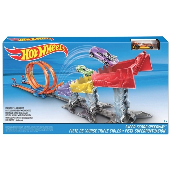 MATTEL - HOT WHEELS PISTE DE COURSES TRIPLE CIBLE