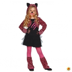 COSTUME LEOPARD ROSE 7-9 ANS