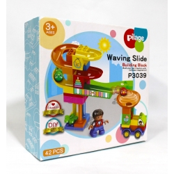 BLOCKS TOBOGGAN 42 PCS