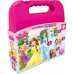 EDUCA - COFFRET 4 PUZZLES - DISNEY PRINCESS