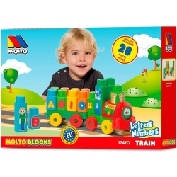 MOLTO - TRAIN DE BLOCS 28 PCS